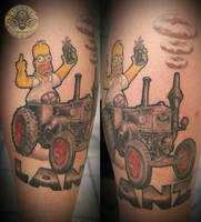H Simpson bulldog lanz healed by 2Face-Tattoo