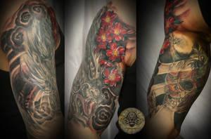 Hanya skull mask  tat 2 by 2Face-Tattoo