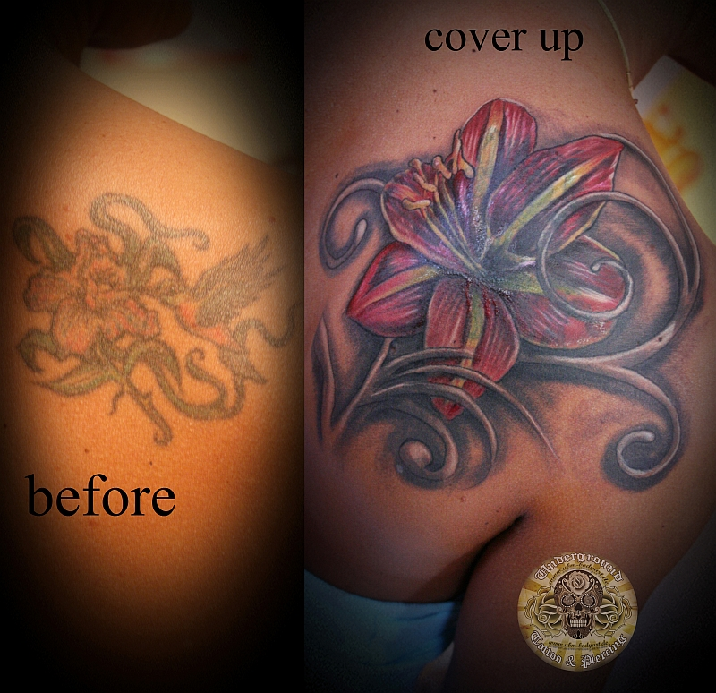 cover up lily step 1 by *2Face-Tattoo on deviantART