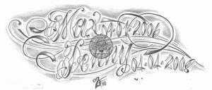 chicano script children tat by 2Face-Tattoo