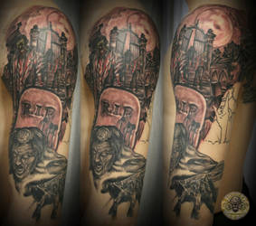 Zombie cemetary bloody step2 by 2Face-Tattoo