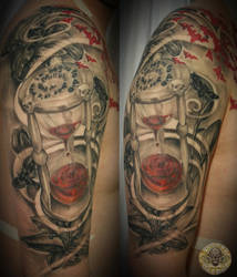 Blood clock skull lily healed