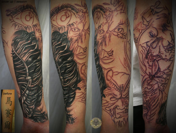 Arm sleeve biomech cover up by 2face tattoo on deviantart for Tattoo cover sleeve target