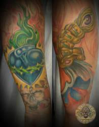 New school arm tat in prog. by 2Face-Tattoo