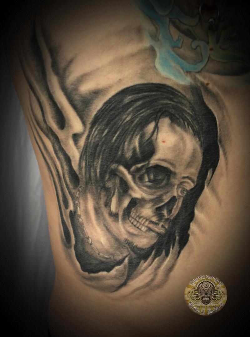 horror skull tattoo by 2Face-Tattoo on DeviantArt
