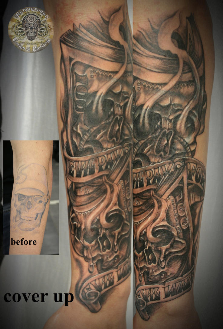 Skull chicano arm cover up by 2face tattoo on deviantart for Tattoo sleeve cover up forearm