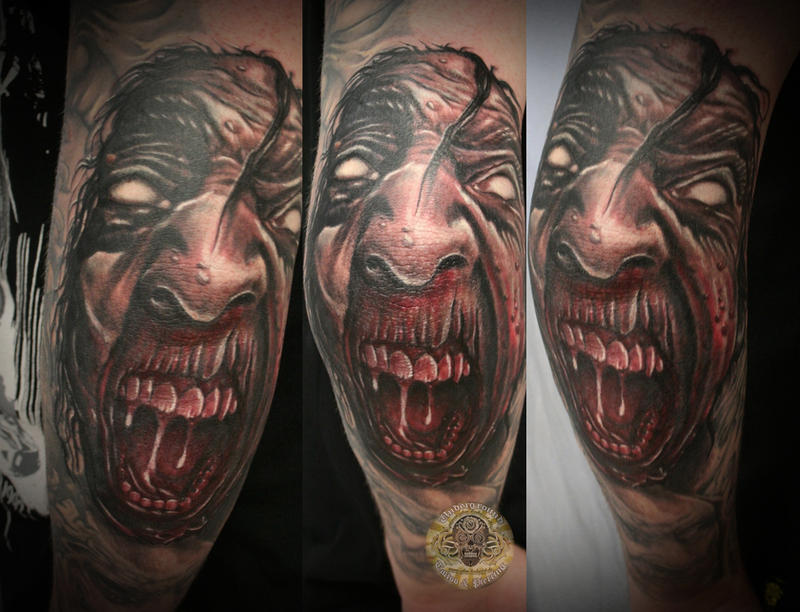 Demon face tattoo by 2Face-Tattoo on DeviantArt