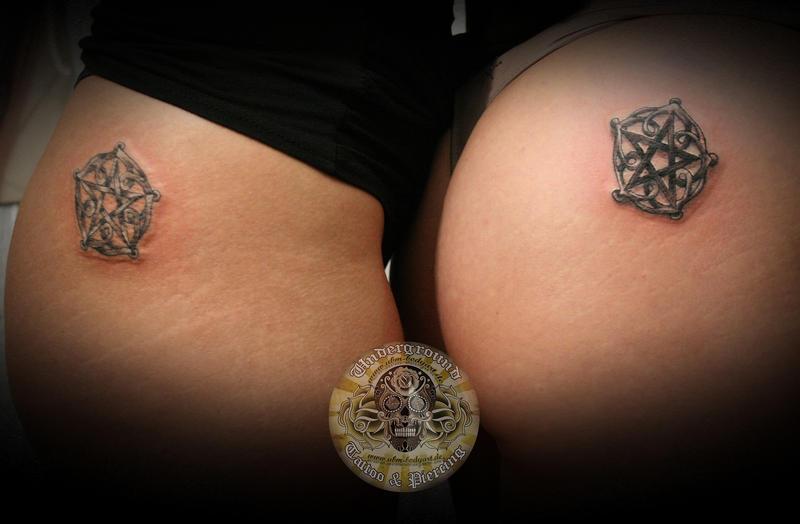 Pentagram tattoo by 2Face-Tattoo