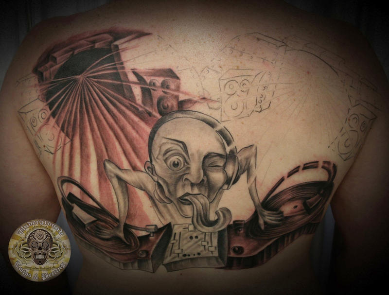 DJ Turntable Tattoo 2 Session By 2Face