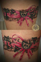 Girly cat garter tattoo 2. ses by 2Face-Tattoo