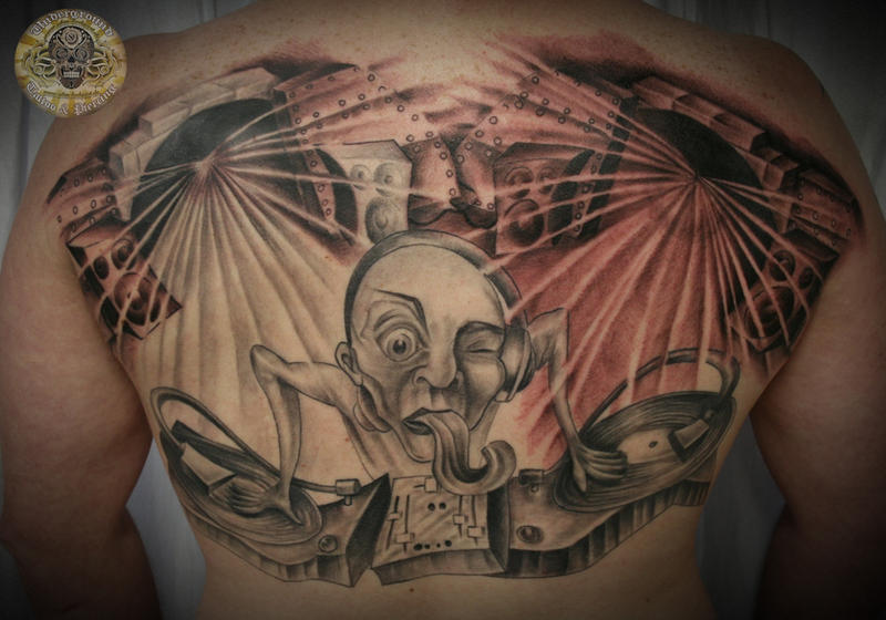 DJ Turntable Tattoo 3 Session By 2Face