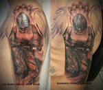 Angel tattoo 1. session