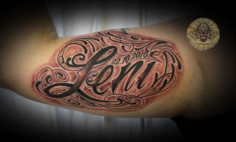 Chicano lettering tattoo 1 ses