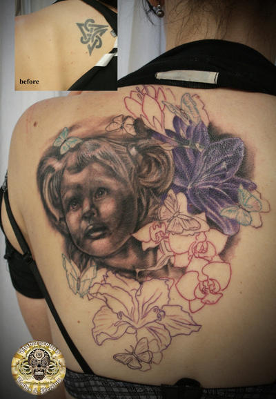 Daughter Portrait tattoo 1ses