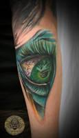 Crazy freaky eye tattoo