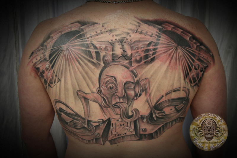 DJ Turntable Tattoo Finished By 2Face