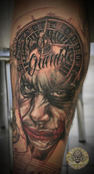 joker tattoo designs. tattoo lettering. Joker