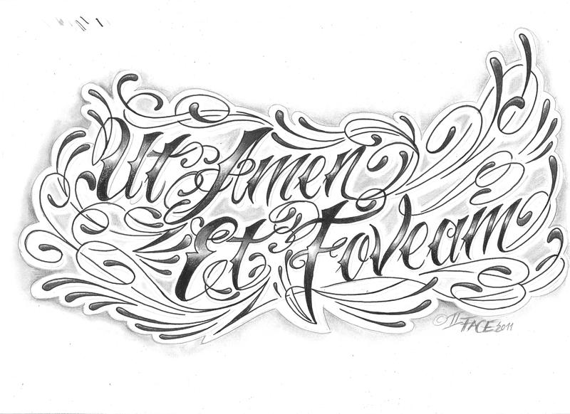 chicano letter latin language by 2face tattoo on deviantart. Black Bedroom Furniture Sets. Home Design Ideas