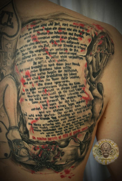 The Boondock Saints prayer by 2Face-Tattoo