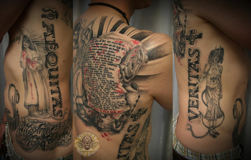 Boondock Saints prayer done by 2Face-Tattoo