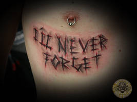 bloody lettering by 2Face-Tattoo