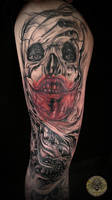 biomech bloody face prog. by 2Face-Tattoo
