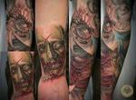 sleeve zombie bloody face eye