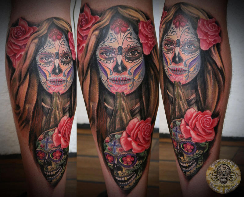 la catrina santa muerte by 2face tattoo on deviantart. Black Bedroom Furniture Sets. Home Design Ideas