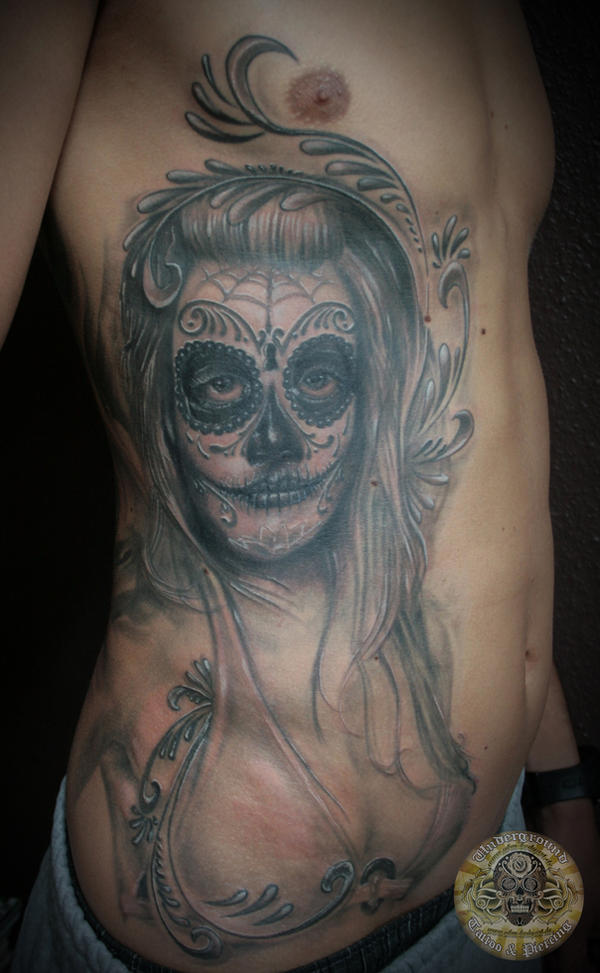 santa muerte la catrina by 2face tattoo on deviantart. Black Bedroom Furniture Sets. Home Design Ideas