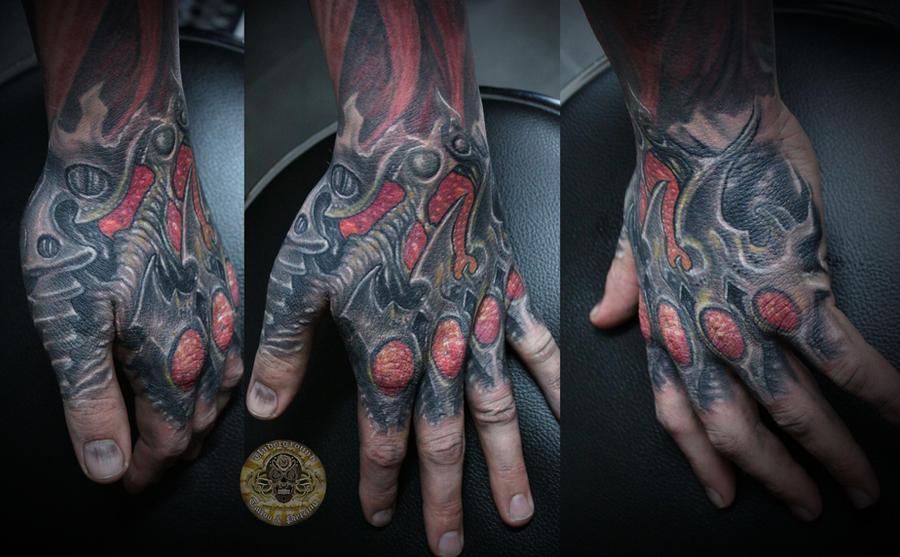 Biomech Hand Tat