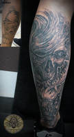 cover up bloody skull horror