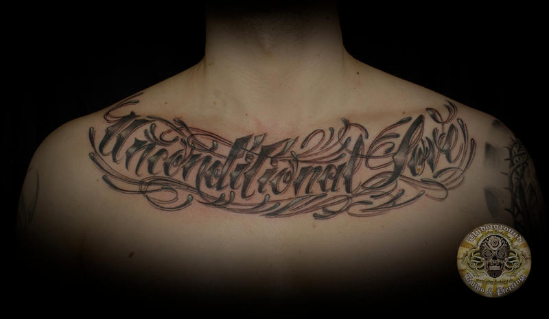 Tattoo Lettering Chest