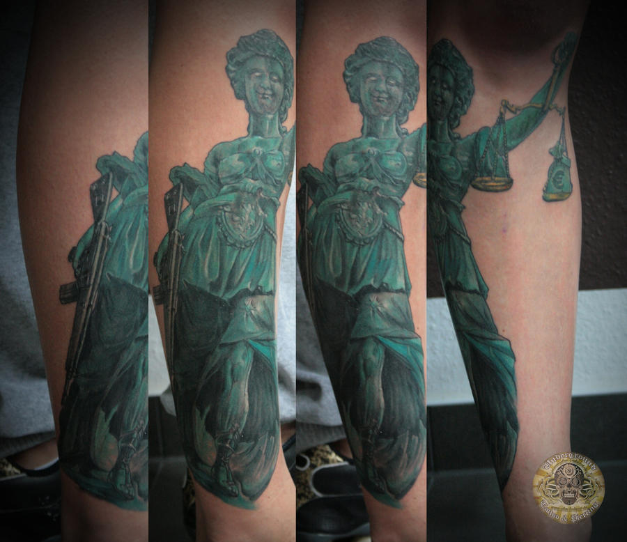 Justicia Another Way By 2Face Tattoo On DeviantArt