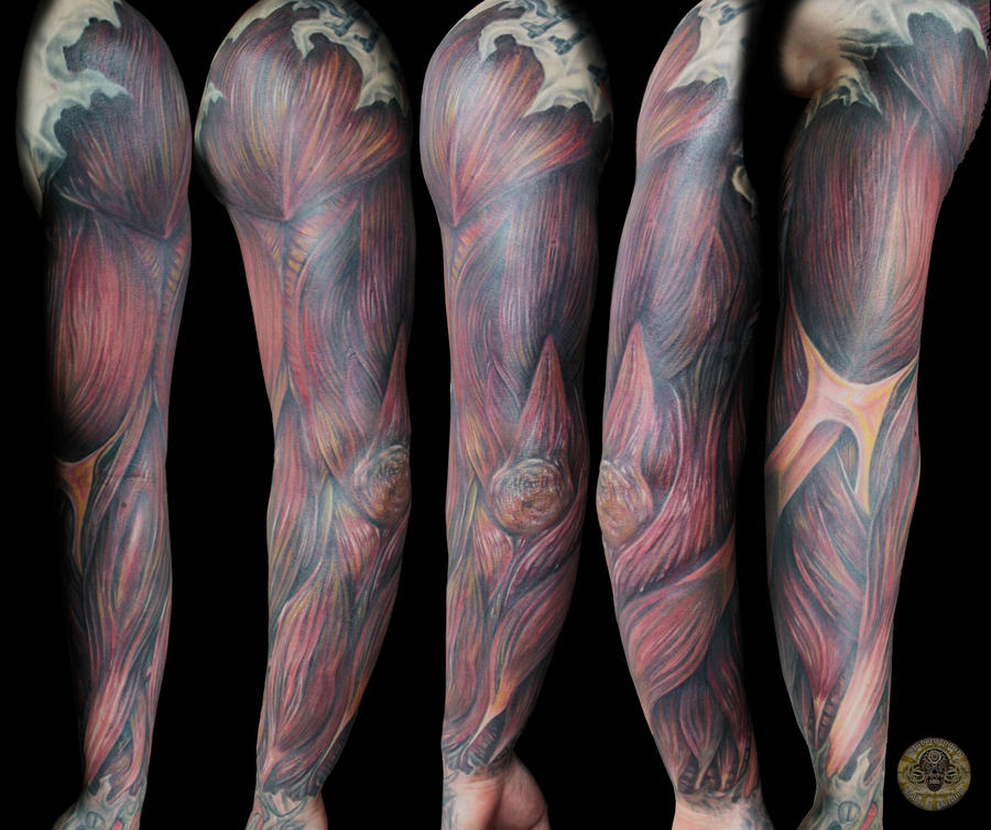 Muscle Tattoo Sleeve: Muscle Armsleeve TaT Finish By 2Face-Tattoo On DeviantArt