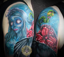 Corpse Bride armsleeve in prog. by 2Face-Tattoo