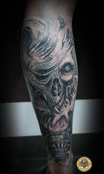 Skull characters cover up by 2Face-Tattoo