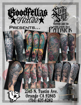 Guestspot 2Face @Goodfellas Tattoo Art Studio CA