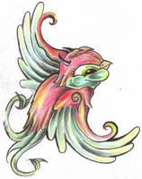 Tattooflash Swallow Devil by 2Face-Tattoo
