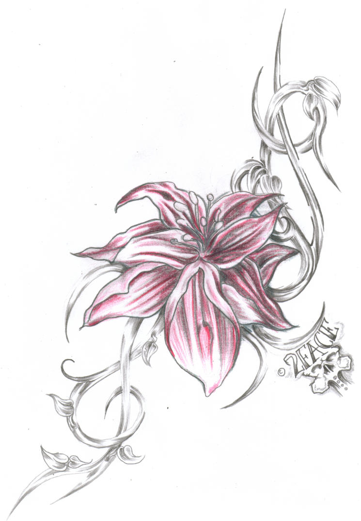Tattoo flower tribal by 2face tattoo on deviantart tattoo flower tribal by 2face tattoo izmirmasajfo Images