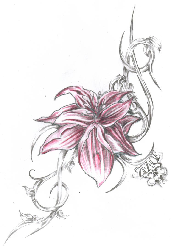 Tattoo Flower Tribal by 2Face-Tattoo