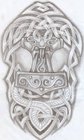 Celtic Design Thor Hammer Tat2