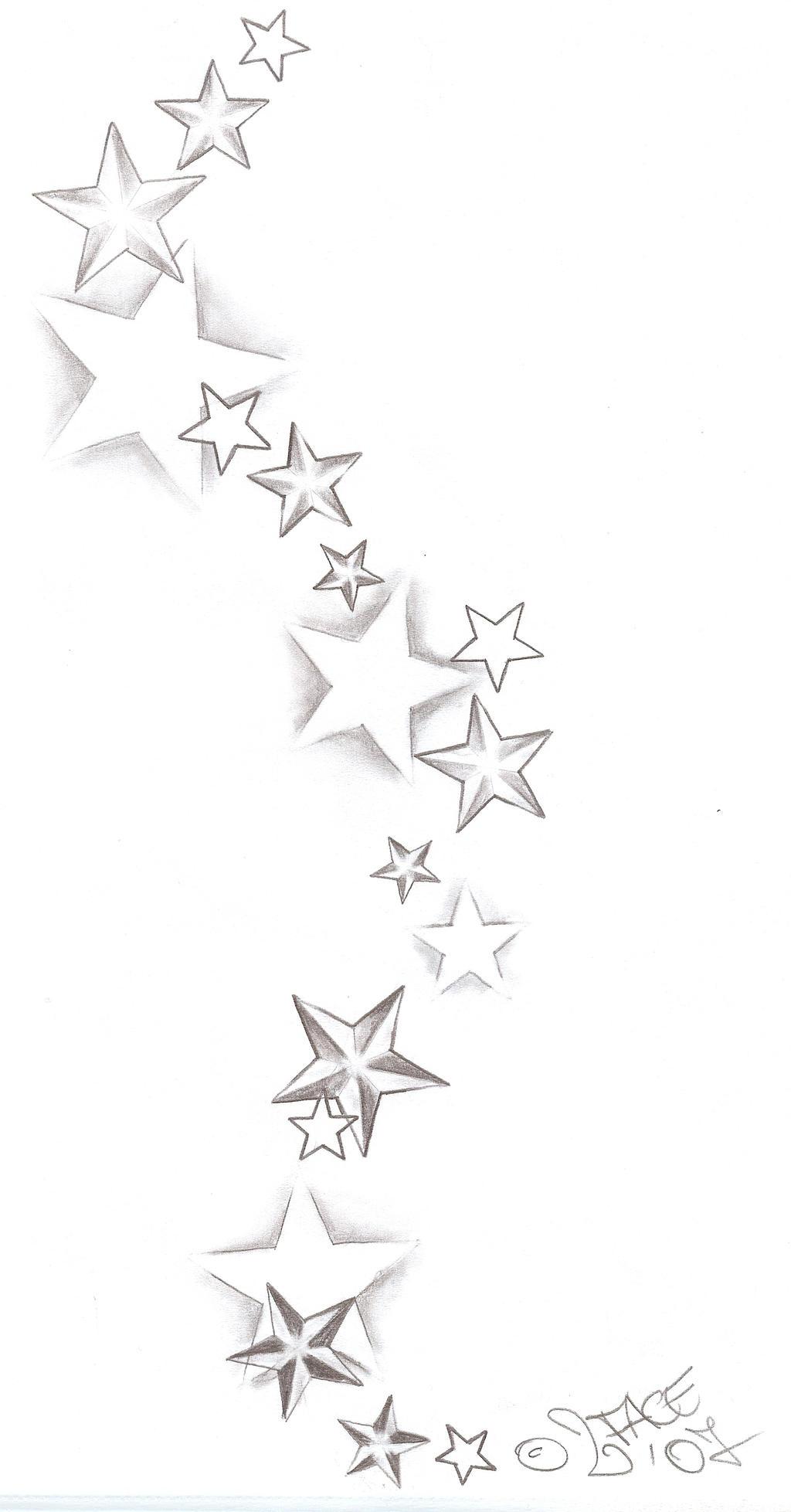 Tattooflash Stars Shadings