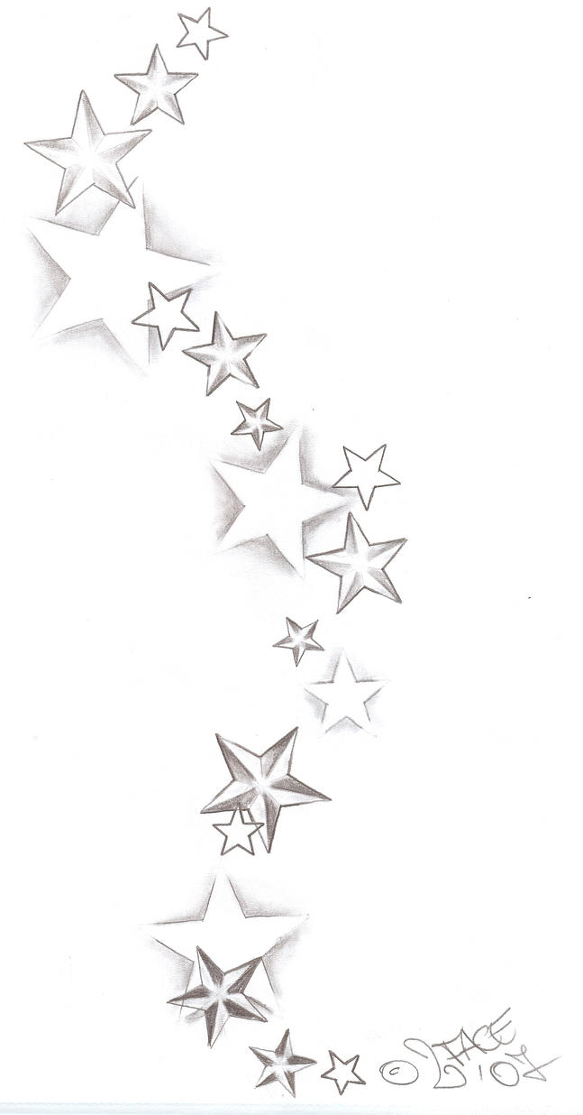 Tattooflash Stars Shadings by