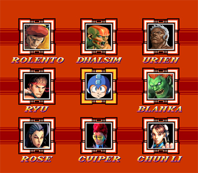Street Fighter X Mega Man HD Character Select Scre by True-BackLash