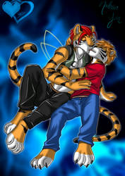 Kissing Tigers -Color-