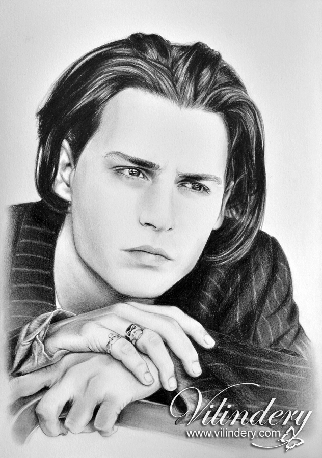 Johnny depp pencil drawing by vilindery