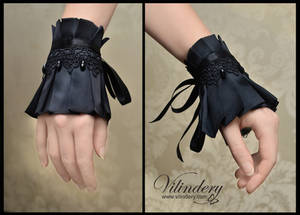 Little black gothic cuff bracelet