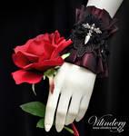 Dark Red Gothic Cuff