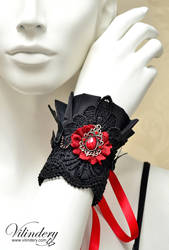 Vampire Gothic Cuff by vilindery