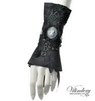 Victorian Goth Cuff Bracelet by vilindery